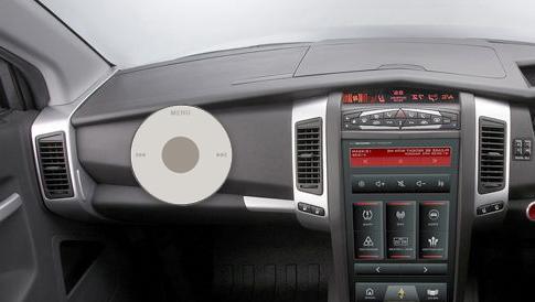 הדמיית מחשב של אבטיפוס המכונית של אפל